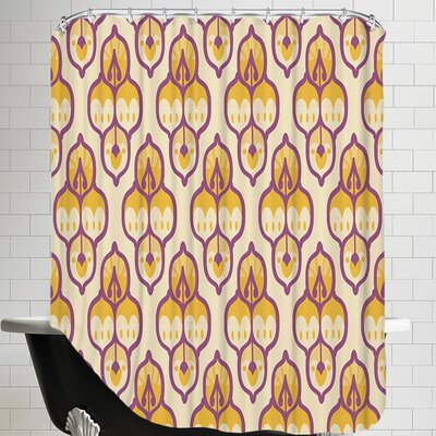 Turkish CaraKozik Shower Curtain Color: Yellow/Purple