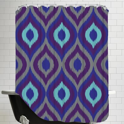 Curvy Ikat Shower Curtain