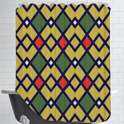 Tribal Linen Shower Curtain