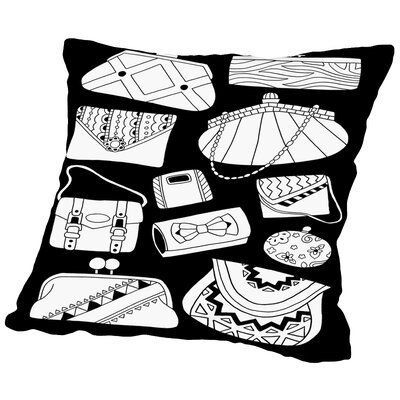 Pocketbooks Throw Pillow Size: 18 H x 18 W x 2 D