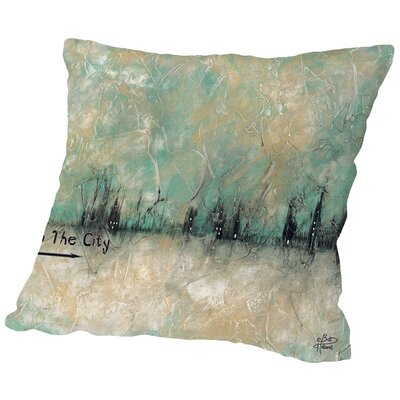 To the City Throw Pillow Size: 16