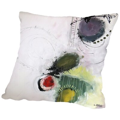 Mordicus Des Petites Baies Throw Pillow Size: 18 H x 18 W x 2 D