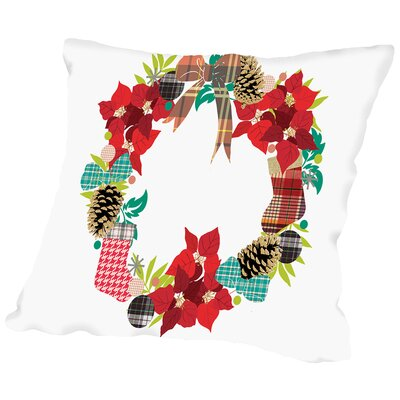 Plaid Wreath Throw Pillow Size: 18 H x 18 W x 2 D