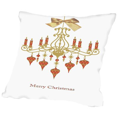 Christmas Chandelier Throw Pillow Size: 18 H x 18 W x 2 D