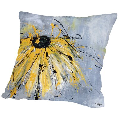 Flower Throw Pillow Size: 18 H x 18 W x 2 D