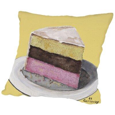 Neapolitan Slice Throw Pillow Size: 16 H x 16 W x 2 D