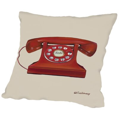Phone With a Cord Throw Pillow Size: 18 H x 18 W x 2 D