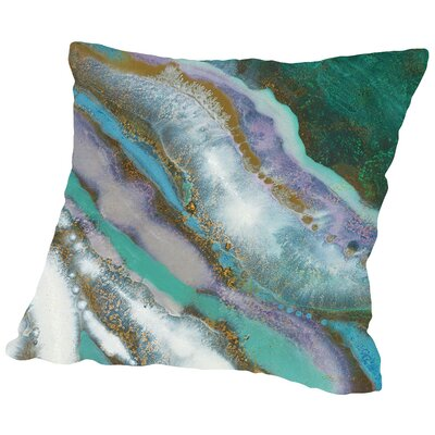 Marble Throw Pillow Size: 14 H x 14 W x 2 D