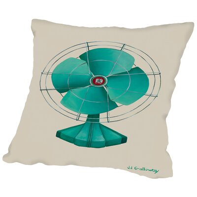 Emerald Fan Throw Pillow Size: 18 H x 18 W x 2 D