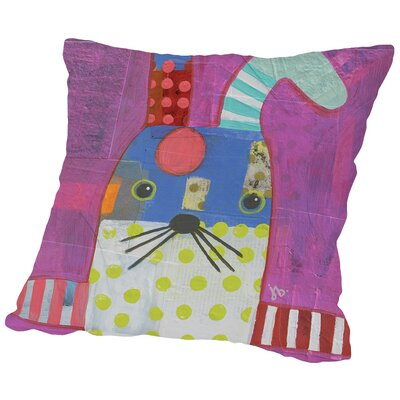 Rabbit Throw Pillow Size: 14 H x 14 W x 2 D