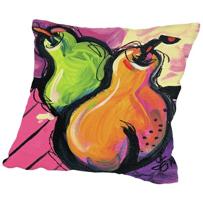 Zany Pears Throw Pillow Size: 18 H x 18 W x 2 D