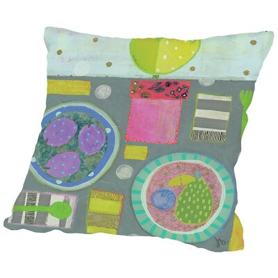 Table for Two Throw Pillow Size: 16 H x 16 W x 2 D
