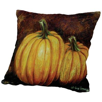 Pumpkin Harvest Throw Pillow Size: 16 H x 16 W x 2 D