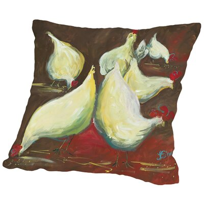 Dinner Hour Throw Pillow Size: 14 H x 14 W x 2 D