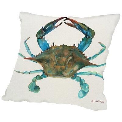 Crab Throw Pillow Size: 20 H x 20 W x 2 D