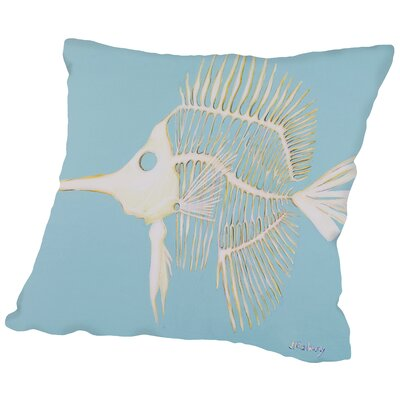 Longnosed Butterfly Fish Bones Throw Pillow Size: 14 H x 14 W x 2 D