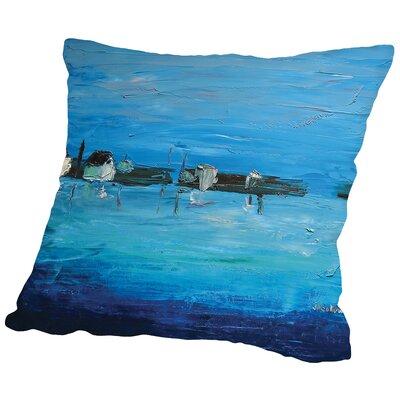 Shoreline Throw Pillow Size: 16 H x 16 W x 2 D
