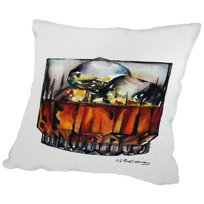Scotch on The Rocks Throw Pillow Size: 16 H x 16 W x 2 D