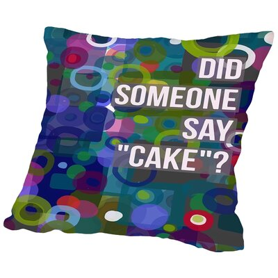 Did Cake Throw Pillow Size: 14 H x 14 W x 2 D