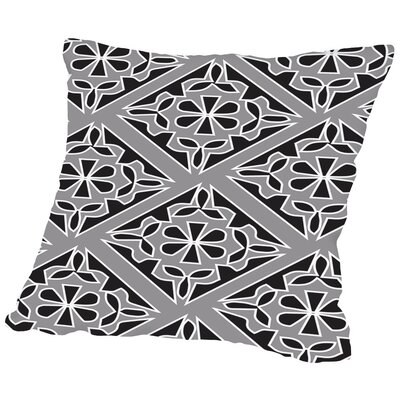 Gray Throw Pillow Size: 14 H x 14 W x 2 D