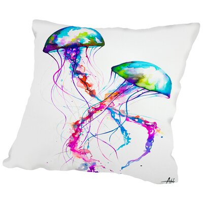 Narasumas Print Throw Pillow Size: 14 H x 14 W x 2 D