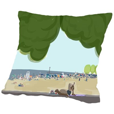 Foster Beach Trees 2 Throw Pillow Size: 14 H x 14 W x 2 D