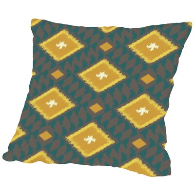 Ikat Diamond Throw Pillow Size: 16