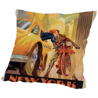 NewYork Minute Kai Carpenter Type Throw Pillow Size: 16
