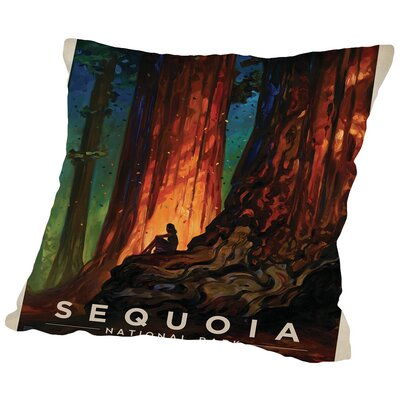KC NP Sequoia Throw Pillow Size: 18 H x 18 W x 2 D