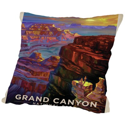 KC NP Grand Canyon Sunset Throw Pillow Size: 16 H x 16 W x 2 D