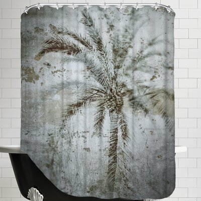 Palm on Concrete Shower Curtain