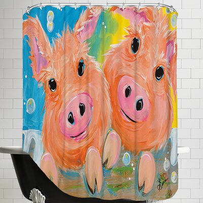 Pig Duo Shower Curtain