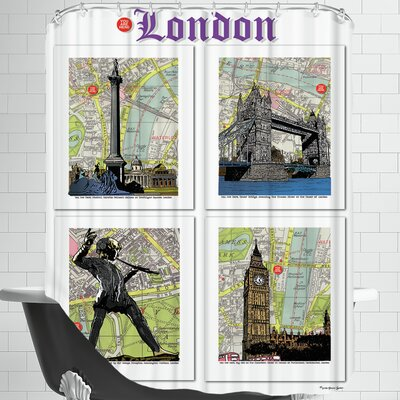 London Poster Shower Curtain