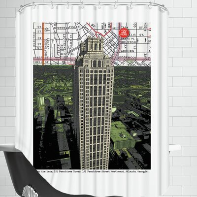 Peachtree Tower Shower Curtain