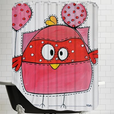 Pink Birdz 1 Shower Curtain