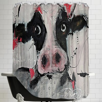 Cow Pink Shower Curtain