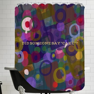 Say Cake 5 Shower Curtain