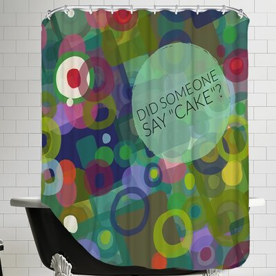 Say Cake 2 Shower Curtain