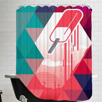Watermelon Popsicle Shower Curtain