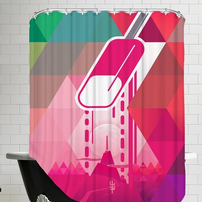 Raspberry Popsicle Shower Curtain