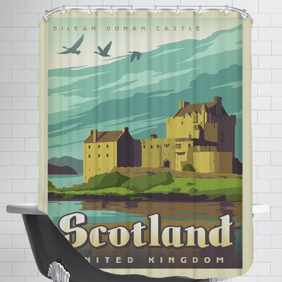 WT Scotland Castle Shower Curtain