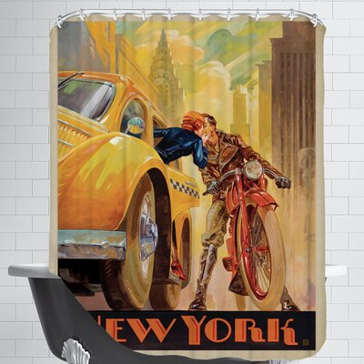 NewYorkMinute KaiCarpenter TYPE Shower Curtain