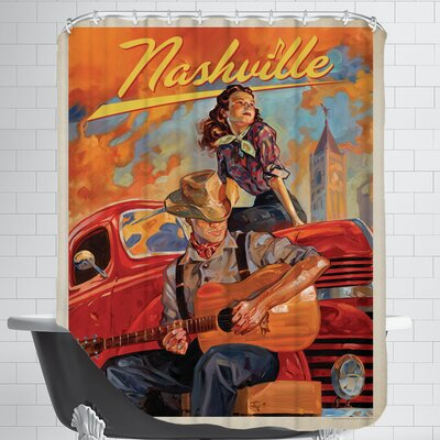 KC NashvilleDreams Shower Curtain