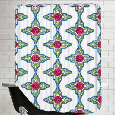 SangriaRose CaraKozik Shower Curtain