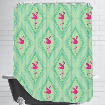 FlamingoGreen Shower Curtain