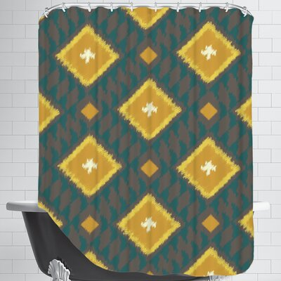 Ikat Diamond Shower Curtain