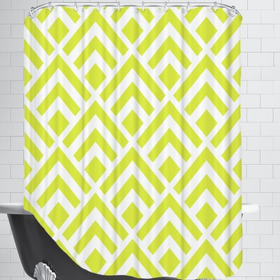 Geometric Yellow Shower Curtain