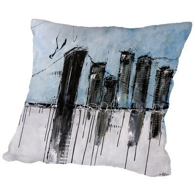 City (1) Throw Pillow Size: 18 H x 18 W x 2 D