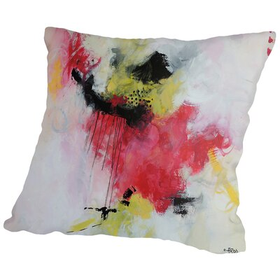 Crazy Rose Throw Pillow Size: 14 H x 14 W x 2 D