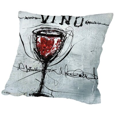 Vino 9 Throw Pillow Size: 18 H x 18 W x 2 D